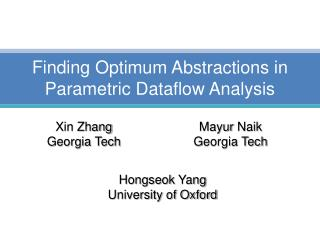 Finding Optimum Abstractions in Parametric Dataflow Analysis
