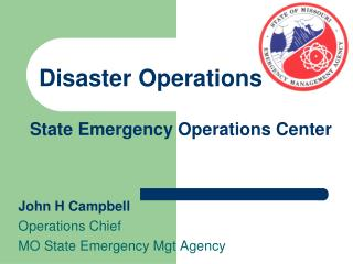 State Emergency Operations Center
