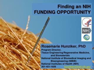 Rosemarie Hunziker, PhD Program Director, Tissue Engineering/Regenerative  Medicine,