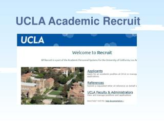 UCLA Academic Recruit