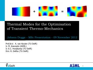 Thermal Modes for the Optimisation of Transient Thermo-Mechanics