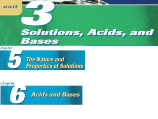 Chapter 5: The Nature and Properties of Solutions