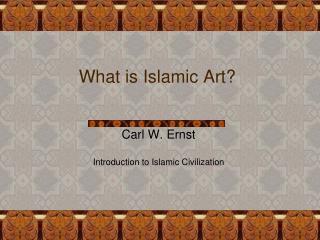 What is Islamic Art