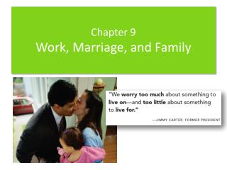 Chapter 9 Work, Marriage, and  Family