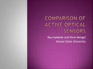 Comparison of Active Optical Sensors