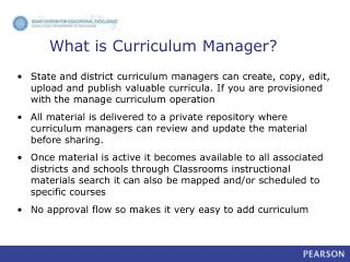 What is Curriculum Manager?