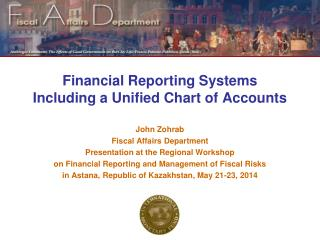 Financial Reporting Systems Including a Unified Chart of Accounts
