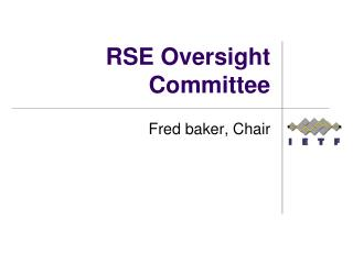 RSE Oversight Committee