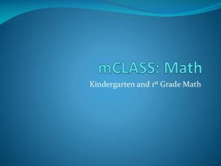 mCLASS: Math