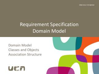 Requirement Specification Domain Model