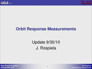 Orbit Response Measurements