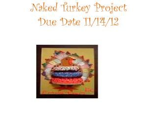 Naked Turkey Project Due Date  11/14/12