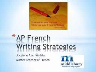 AP French  Writing Strategies