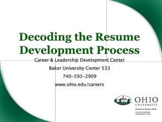 Decoding the Resume Development Process