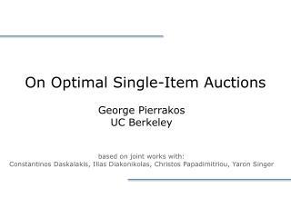 On Optimal Single-Item Auctions