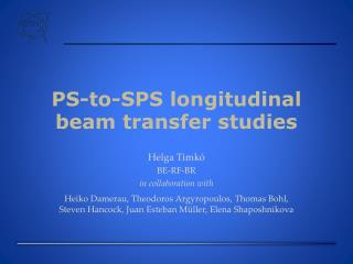 PS-to-SPS longitudinal beam transfer studies