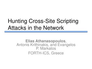 Hunting Cross-Site Scripting Attacks in the Network