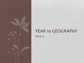 Year 10 Geography