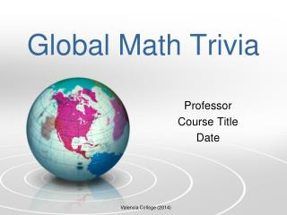 Global Math Trivia