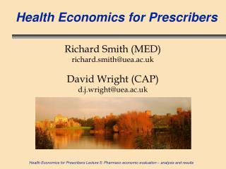 Health Economics for Prescribers