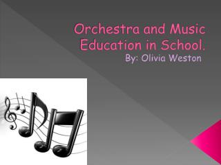 Orchestra and Music Education in School.