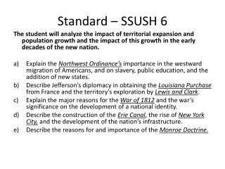 Standard – SSUSH 6