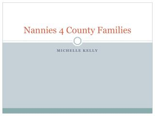 Nannies 4 County Families