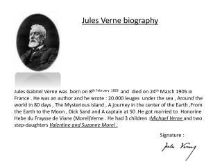 Jules Verne biography