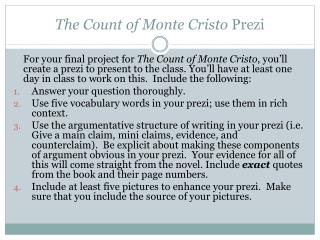 The Count of Monte Cristo Prezi