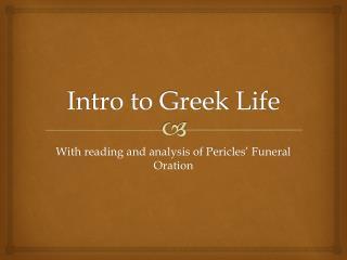 Intro to Greek Life