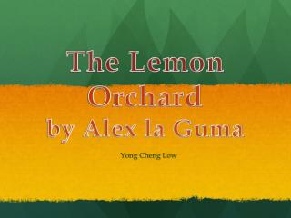 The Lemon Orchard by Alex la Guma