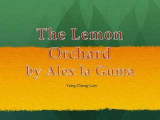 The Lemon Orchard by Alex la Guma