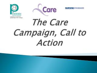 The Care Campaign, Call to Action