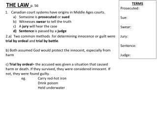 THE LAW  p. 56