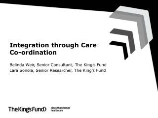 Integration through Care Co-ordination