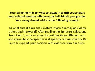Requirements for Synthesis Essay:  Typed , double-spaced, 12-point font