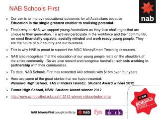 NAB Schools First