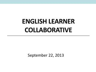 English Learner Collaborative