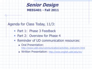 Part 1:  Phase 3 Feedback Part 2:  Overview for Phase 4 Reminder of UD communication resources: