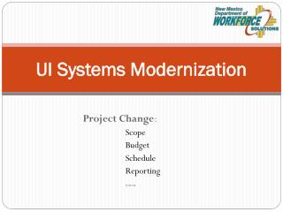 UI Systems Modernization