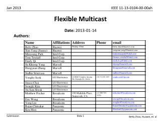 Flexible Multicast
