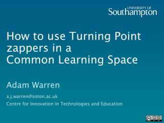 How to use Turning Point zappers in a  Common Learning Space