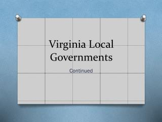Virginia Local Governments