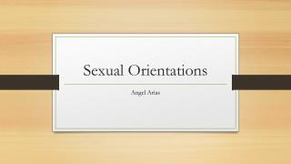 Sexual Orientations