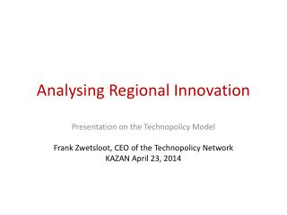 Analysing Regional Innovation