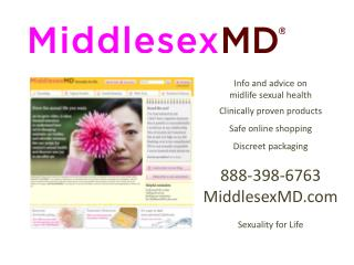 Info and advice on midlife  sexual  health C linically  proven  products  Safe online shopping