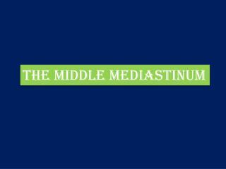 THE MIDDLE MEDIASTINUM