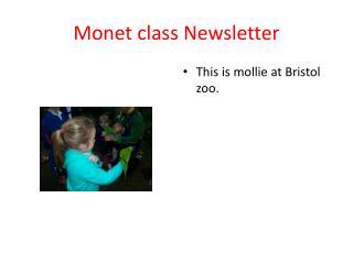 Monet class  N ewsletter