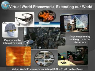 Virtual World Framework:  Extending our World