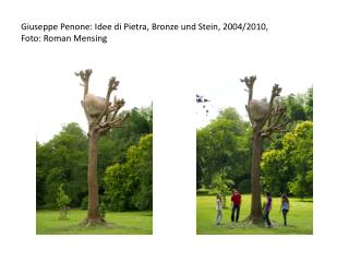 Giuseppe Penone: Idee di Pietra,  Bronze  und Stein, 2004/2010,  Foto: Roman  Mensing